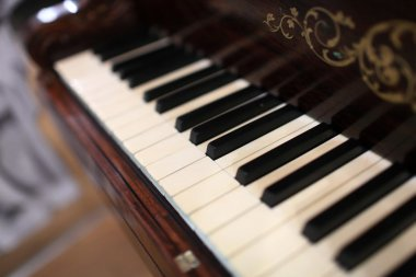 Details of piano keyboard
