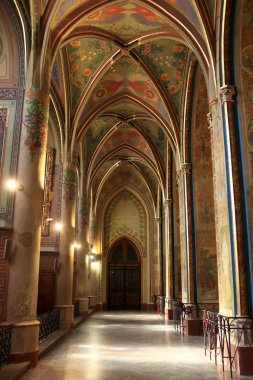 Interior of gothic revival temple
