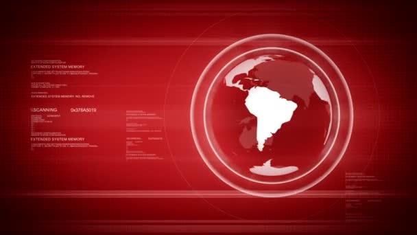digitální svět s zeměkoule