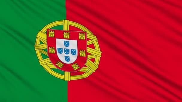 Portugál zászló, igazi szerkezete egy szövet