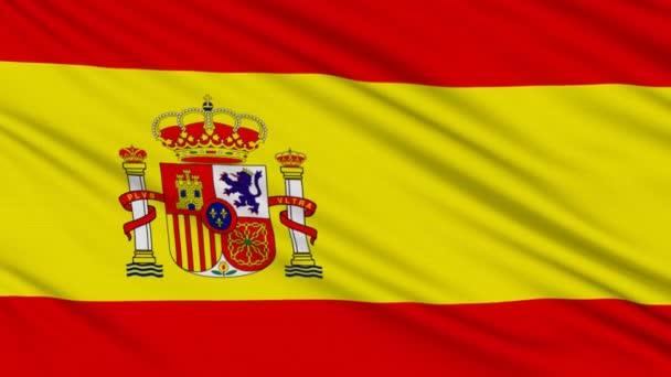 Spanyol zászló, igazi szerkezete egy szövet