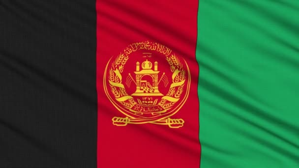 Afghanistan flag, with real structure of a fabric