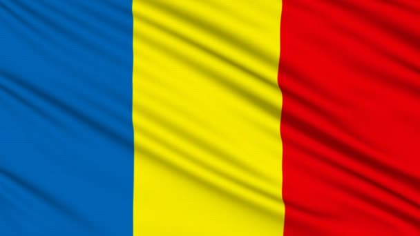 Romanian flag, with real structure of a fabric