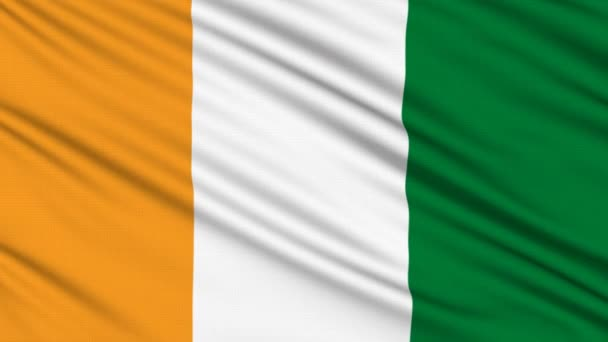 Ivory Coast flag, with real structure of a fabric