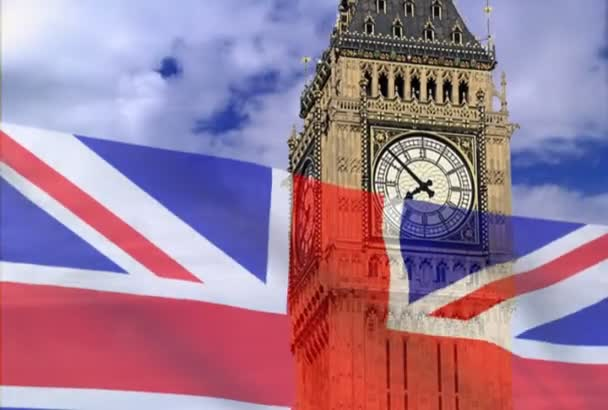 England flag on a background bigben