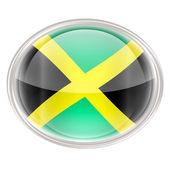 jamaicai zászló ikonra, elszigetelt fehér background