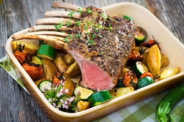 Grilled Rack of Lamb chops