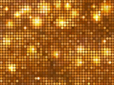 Golden vector background – horizontal mosaic with light spots stock vector