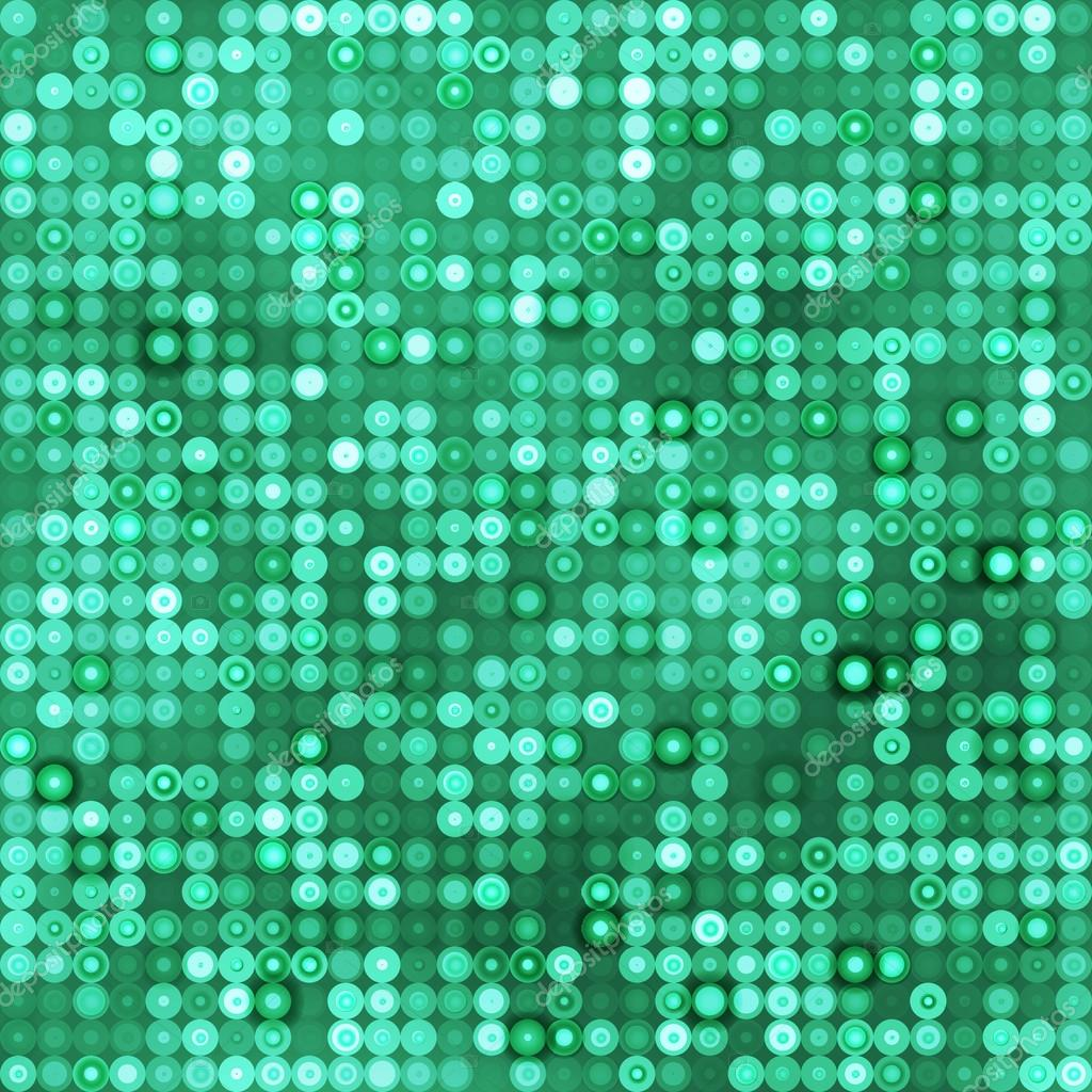 Seamless emerald background with circles
