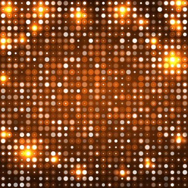 Orange abstract background with circles dark