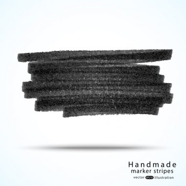 Handmade dark marker stripes