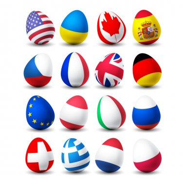 easter egg with flag