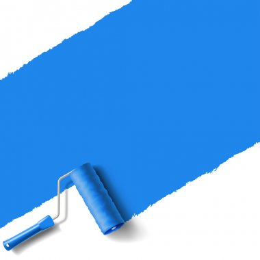 roller brush blue