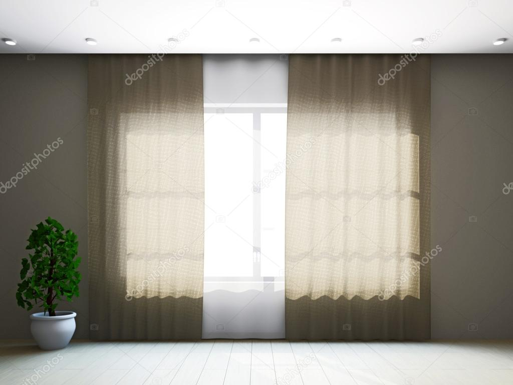 kamer raam met gordijnen — Stockfoto © Ciklamen #16270965