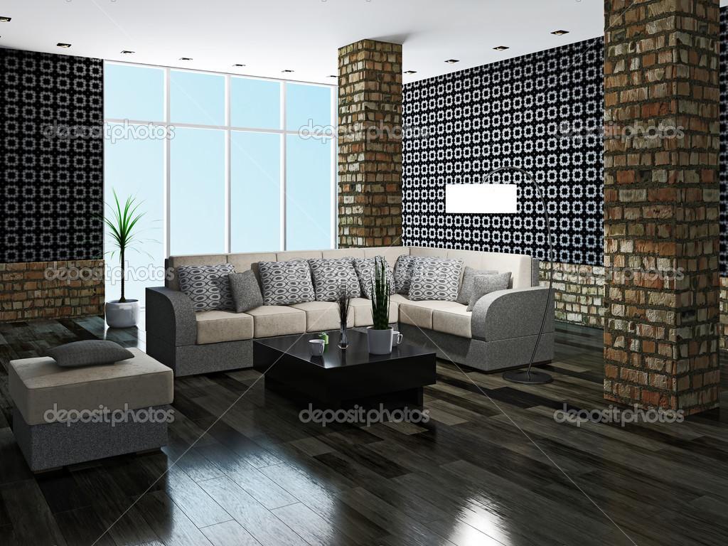 große Wohnzimmer — Stockfoto © Ciklamen #34267345