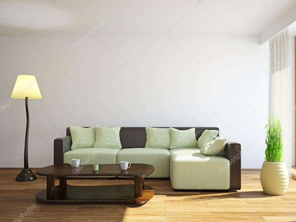 Sofa Near The Window Stock Photo C Ciklamen 46860179