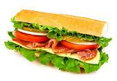 gustoso panino isolato su sfondo bianco