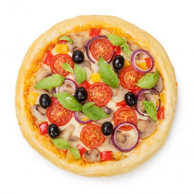 Tasty, flavorful pizza