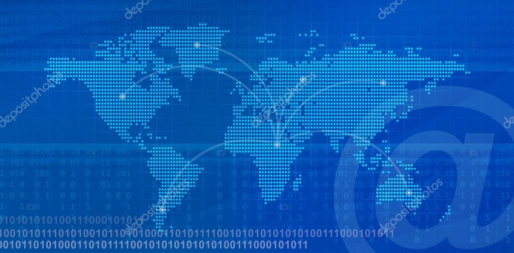 Internet concept digital world map with binary code stock photo digital world map with binary code stock photo gumiabroncs Gallery