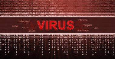 computer virus detection. Spyware concept