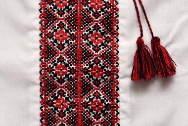 National Ukrainian traditional ornate handicraft shirt with orna