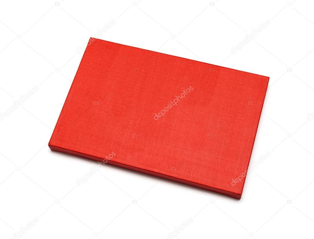 rote Leinwand auf einer Bahre. isoliert auf weiss — Stockfoto ...