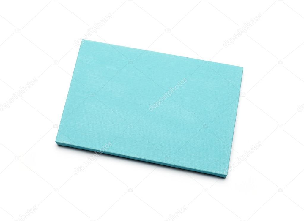 lona azul en una camilla. aislado en blanco — Foto de stock ...