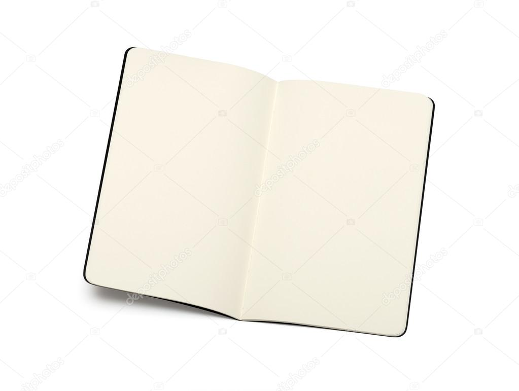 öffnete leere Moleskine-Brief, die Bücher - weiche Seiten Textur ...