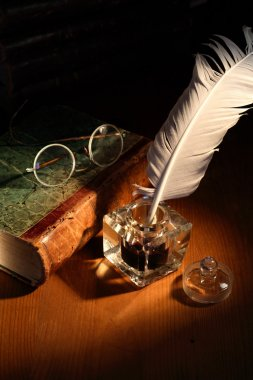 Ink Pot And Book