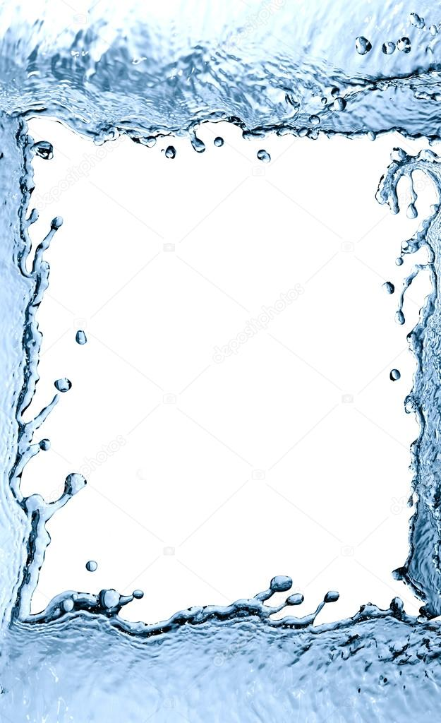 Splashing Water Frame — Stock Photo © kvkirillov #37776019