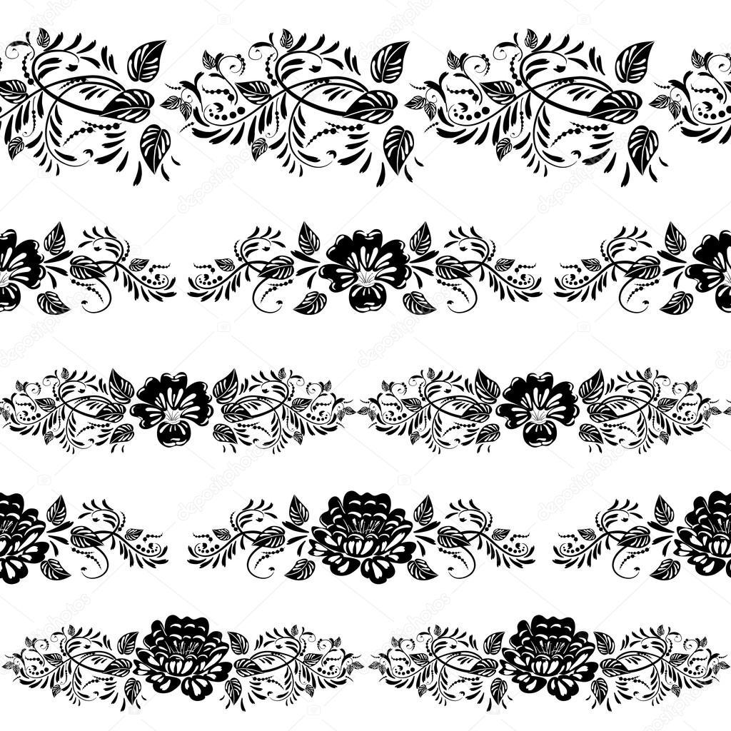 Black Flower Free Vector Download 16 295 Free Vector For: Stock Vector © Oksana #14331805