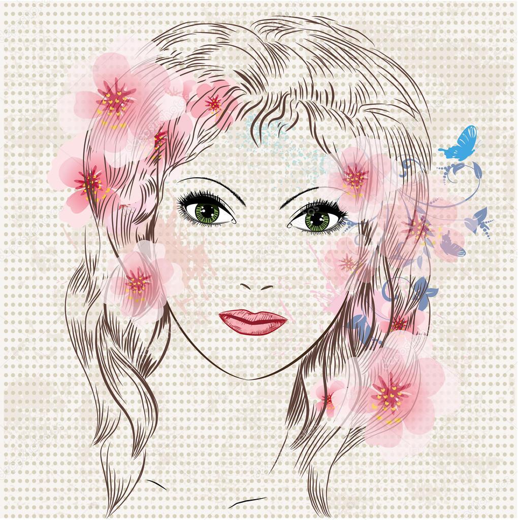 3aeaed38948391f Красивые картинки модные. Лицо девушки красивые модные цветы ...
