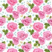Květinová textury s růží bezešvé
