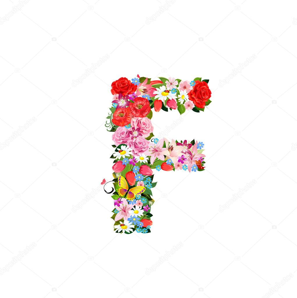 Romantic Letter Of Beautiful Flowers F Stock Vector C Oksana 27413175