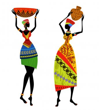 Beautiful African woman in traditional costume