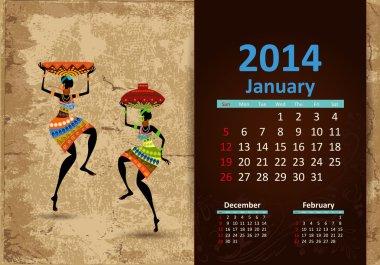 Ethnic Calendar 2014 January