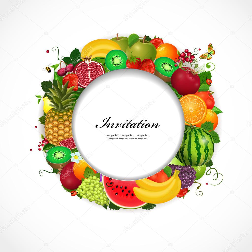 greeting card of fruit