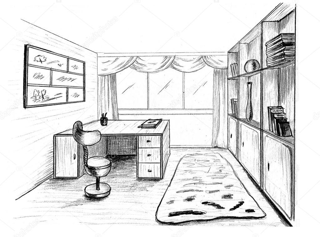 Dibujo Gráfico Oficina Privada Fotos De Stock Irogova 28020615