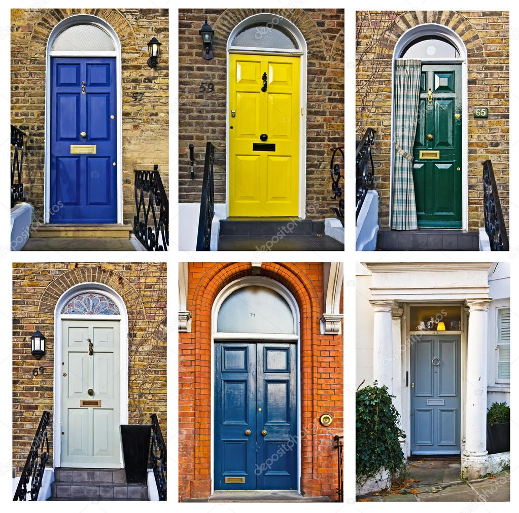 Set of typical English doors u2014 Stock Photo  sc 1 st  Depositphotos & set of typical English doors u2014 Stock Photo © irogova #28023371