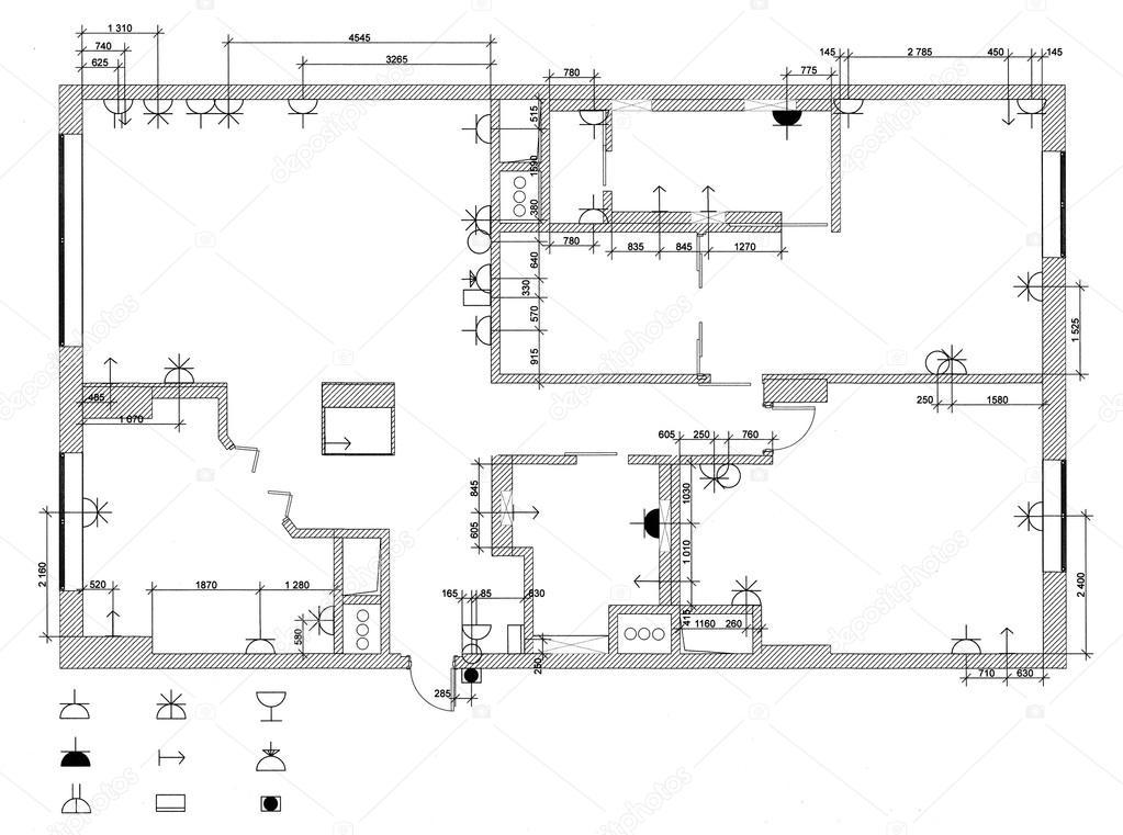 Der Elektrischen Ausrüstung Plan Für Wohnung U2014 Foto Von Irogova