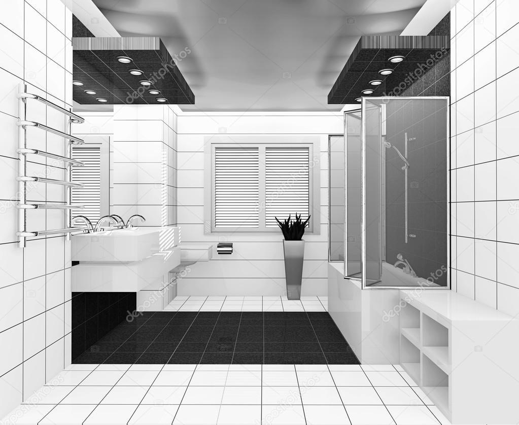 wei schwarz bad stockfoto irogova 28870085. Black Bedroom Furniture Sets. Home Design Ideas