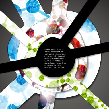 Multi layered abstract medical background with the theme of DNA