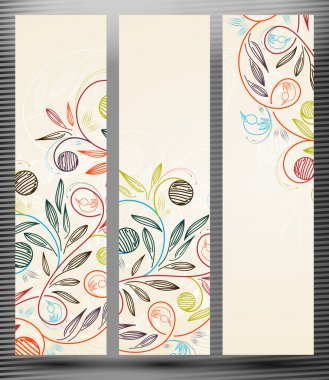 Banner with floral pattern