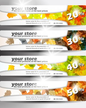 Autumn discount sale banner
