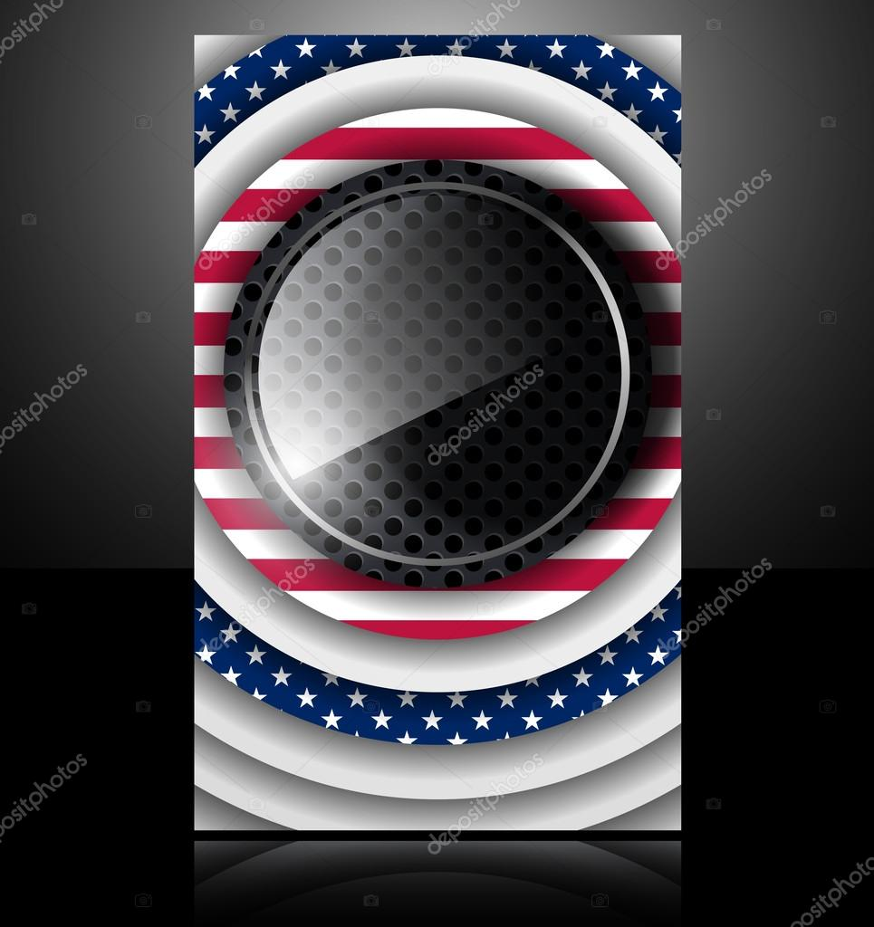 Metal glass american flag business card — Stock Vector © sergio77 ...