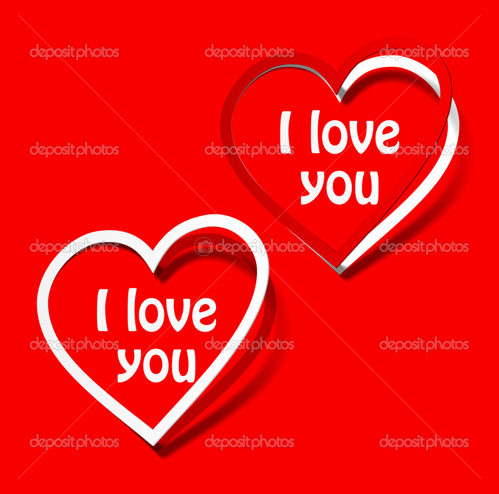 i love you heart sticker — stock vector © sergio77 #34012083
