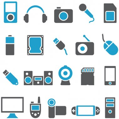 Set vector icons electronics and gadgets
