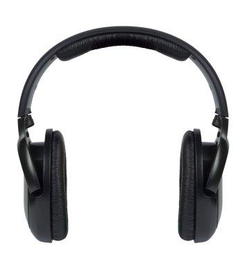 Wireless headphones isolated on white background.