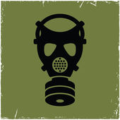 Photo Gas mask on old background with effect of scratches.
