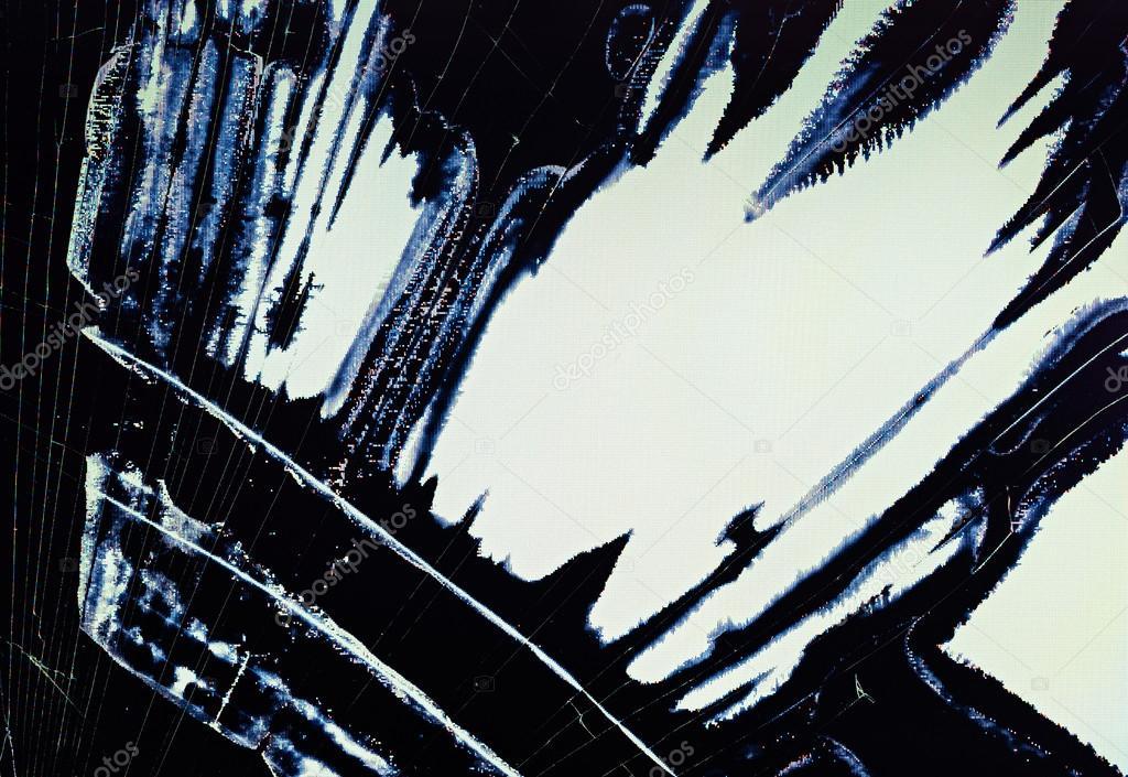 Diviser le fond d'écran (écran) Lcd cassé — Photographie MrHamster © #12455778
